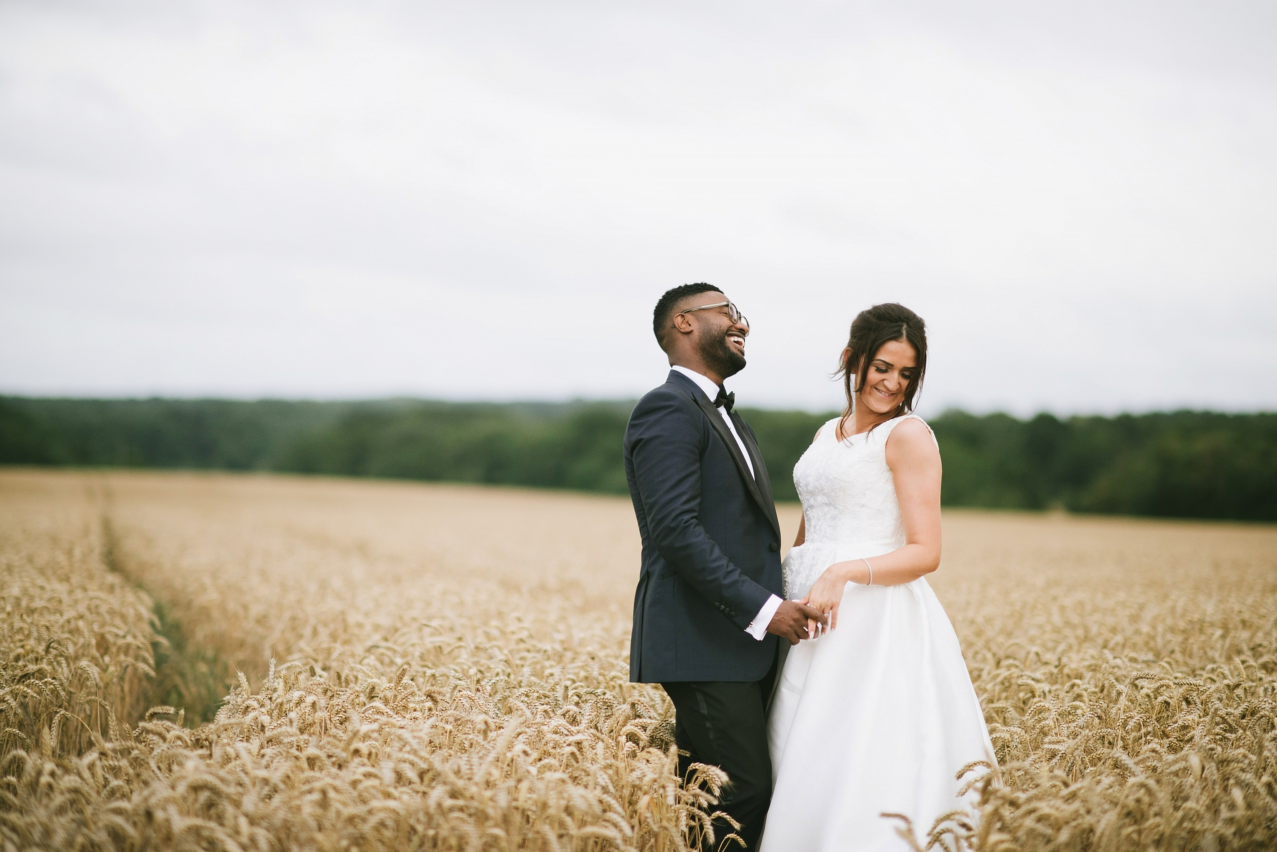Married couple in field